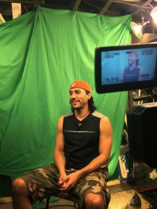 Paul London shooting for a documentary
