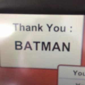 Thank you Batman
