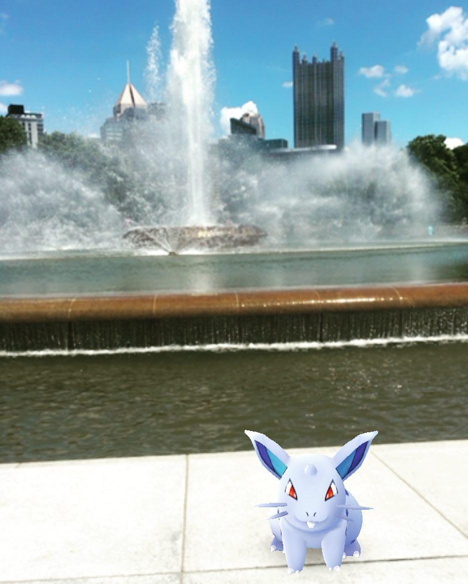 Pokemon Go at Point Park Fountain