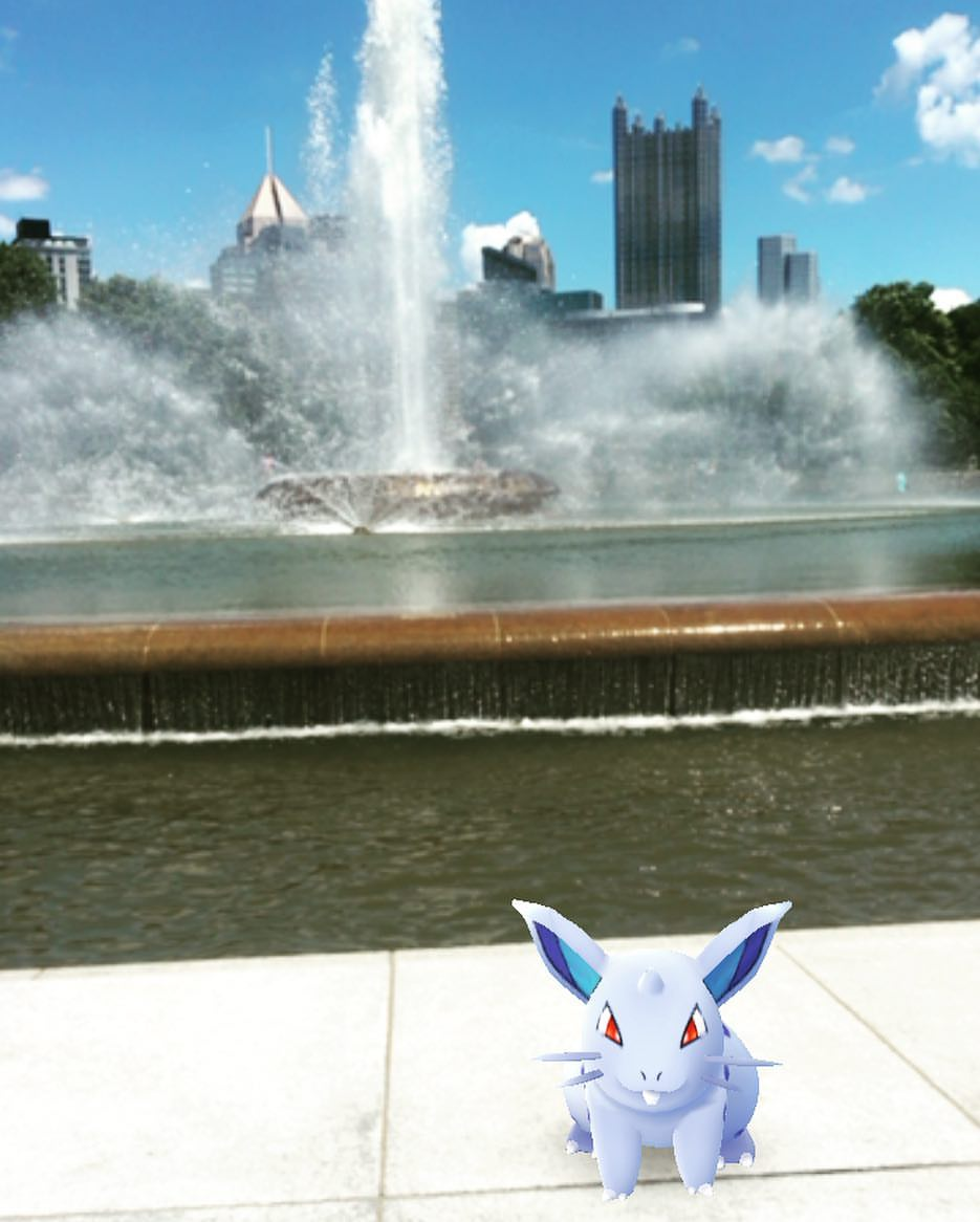 Pokemon Go at Point Park Fountain