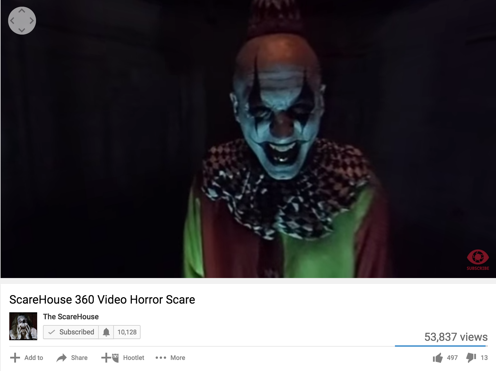 360 video at The Scarehouse